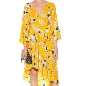 DVF ELOISE MARIGOLD WALDEN Wrap Midi Dress M